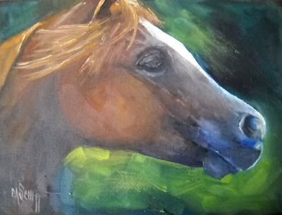 Horse Painting, Small Oil Painting, Daily Painting, Horse Portrait, SOLD