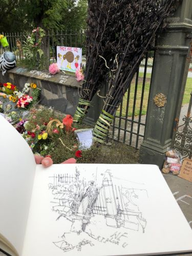 Hard Things To Sketch: Sketching Therapy after the Christchurch Shootings