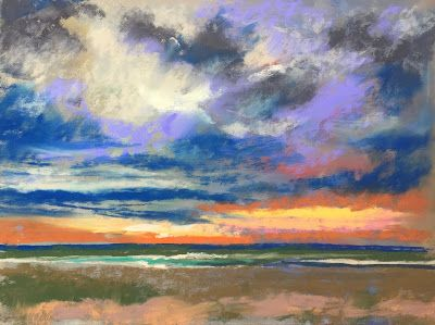 "Beach and Ocean, ""Coastal Sunset,"" by Amy Whitehouse"