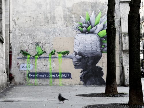 New mural by Ludo in Paris, France