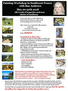 Come Paint With Rae in the Southwest Region of France May 2018