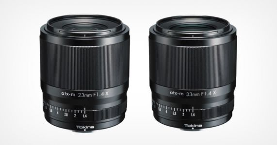 Tokina Launches 23mm f/1.4 and 33mm f/1.4 for Fujifilm X Cameras