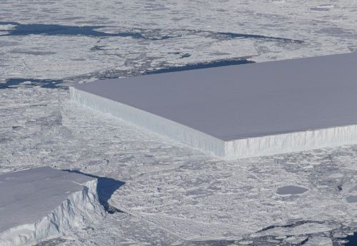 A Nearly Perfect Rectangular Iceberg Spotted in the Antarctic