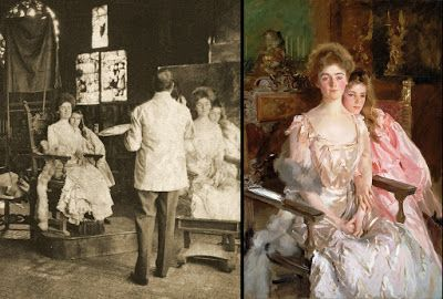 Sargent Painting Mrs. Fiske Warren