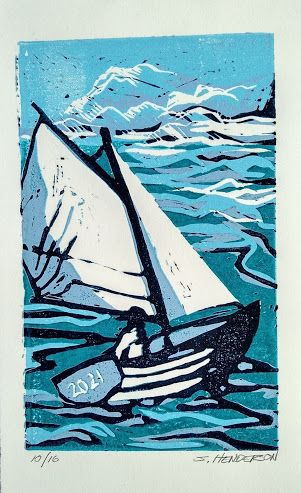 Reduction Linocut for the New Year