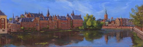 The Hofvijver on a warm summers morning, The Hague