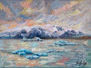 """New """"Frozen Islands"""" Palette Knife Painting by Niki Gulley"""