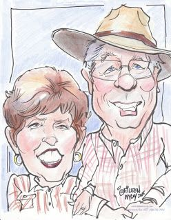 Couple's caricatures