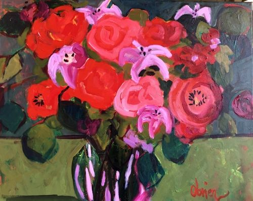 "Contemporary Still Life Painting ""Evening Bouquet"" by Annie O'Brien Gonzales"