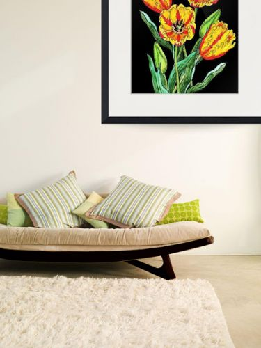 Botanical Watercolor Flowers In Interior Decor