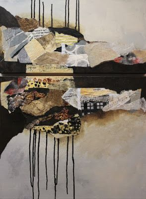 """Abstract Art, Mixed Media Painting """"Billboard 8"""" by Colorado Artist Carol Nelson"""