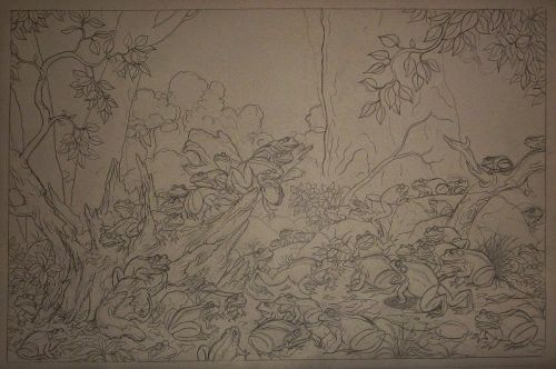 FROGS AT NIGHT drawing