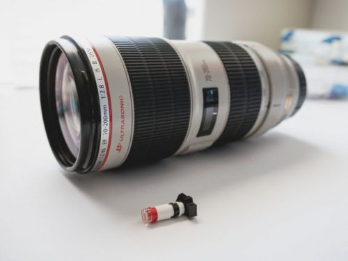 LEGO Minifig Photographers Need Quality Lenses Too