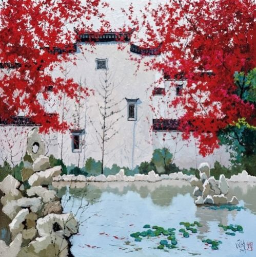 Paintings by Pang Jun  龎均 Pang Jiun born in Shanghai in