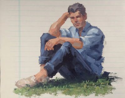 MALE FIGURATIVE SKETCH by TOM BROWN