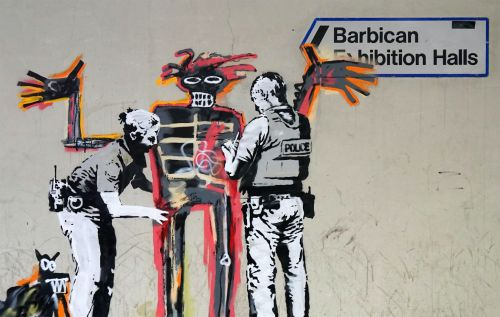 Banksy Unofficially Collaborates With Basquiat Outside the Barbican