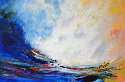 "Contemporary Landscape, Seascape Painting, Environmental Art, ""Cradle of Peace"" by International Contemporary Artist Arrachme"