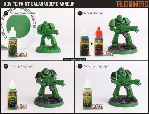 Tutorial: How to paint Salamanders Armour