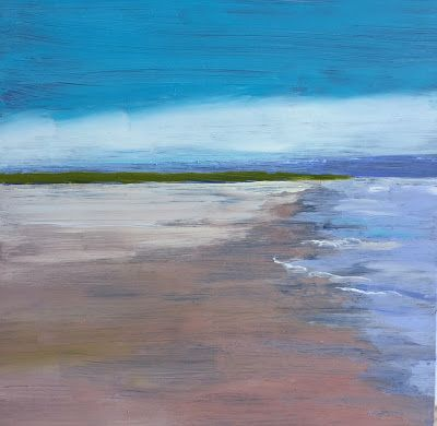 """Contemporary Landscape, """"Low Tide,"""" by Amy Whitehouse"""