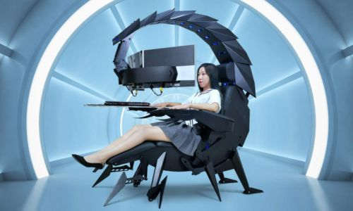 This $3,300 Chair Lets You Edit Photos While Looking Like a Supervillain