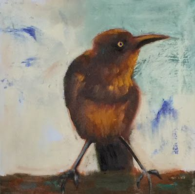 """Contemporary Wildlife Painting, """"Spirit Bird,"""" by Amy Whitehouse"""