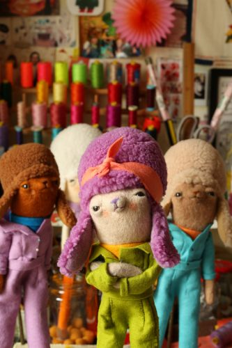 Rollerskating Poodles and Croissant Characters Form an Adorably Eccentric Cast of Felt Characters by Cat Rabbit