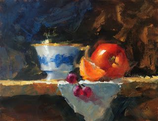 CLASSIC STILL LIFE 9x12 OIL PAINTING by TOM BROWN