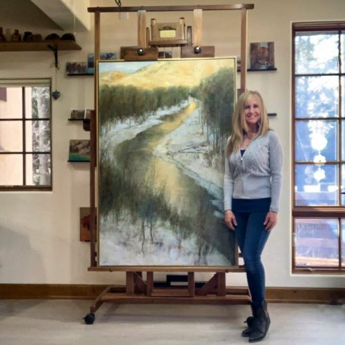 Landscape Painting Workshop in Sun Valley, Idaho with Lori McNee & Royal Talens NA