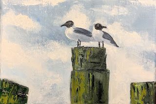 Lovers' Quarrel, by Melissa A. Torres, 5x7 oil on linen canvas
