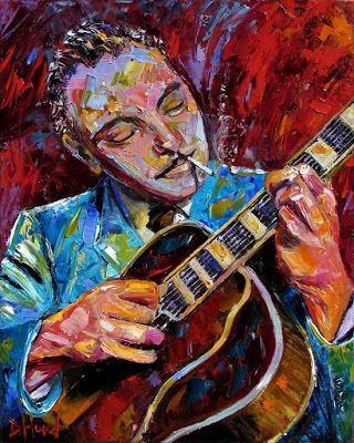 "Django Reinhardt Painting Portrait Music Jazz Paintings Guitar Art ""Django Reinhardt "" by Debra Hurd"