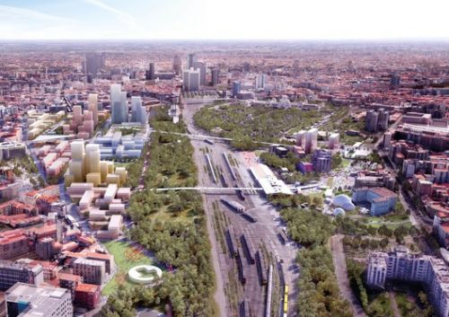 OMA Wins Competition for Adaptable Masterplan of Milan's Disused Railway Sites