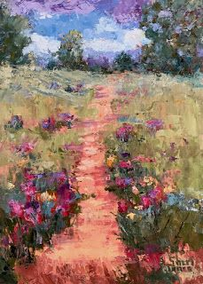 Spring Trail, New Contemporary Landscape Painting by Sheri Jones