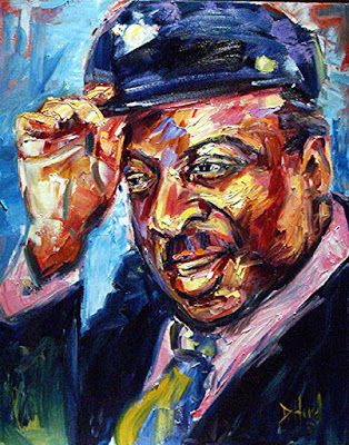 "Jazz, Blues, Music Art, Blues, Portrait Painting ""Count Basie"" by Texas Artist Debra Hurd"