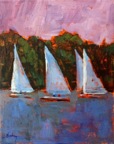 Regatta. 8x10 acrylic on canvas