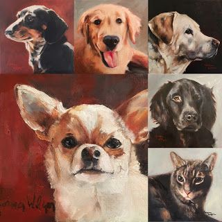 Norma Wilson Original Custom Pet Portraits Dog Cat Painting Art