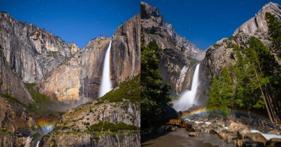 Capturing the Yosemite Moonbow in Real-Time Video