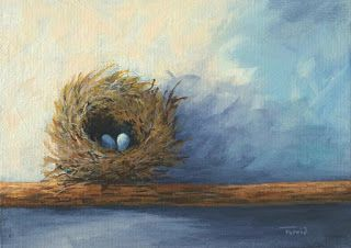 Day 18 of the 30 Paintings in 30 Days ~ The Nest
