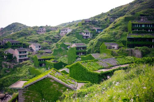An Aerial Tour of an Abandoned Chinese Fishing Village by Joe Nafis