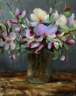 Arkansas Apple Blossoms by artist Pat Meyer