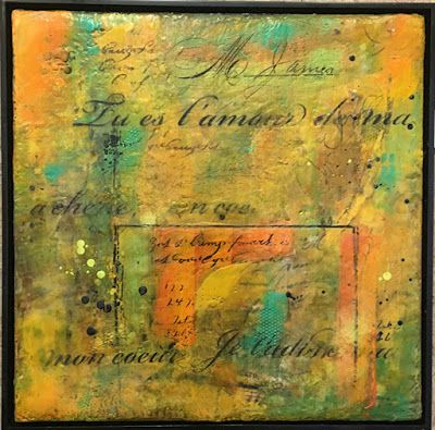 """Encaustic Abstract Art, Mixed Media, Contemporary Painting, """"A Cherie"""" by Texas Contemporary Artist Sharon Whisnand"""