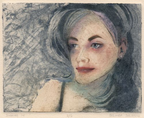 Collagraph with Carborundum - Sinking In