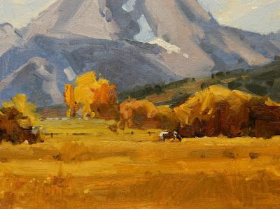 """""""Teton Pastureland"""" oil painting by Robin Weiss"""