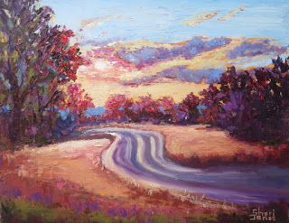 Drive to the Sun, New Contemporary Landscape Painting by Sheri Jones