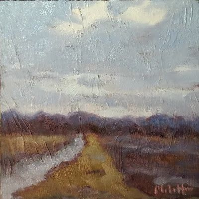 Landscape Painting Original Art February Field