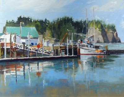 """James Island"" From the Quilute Marina. marine landscape by Robin Weiss"