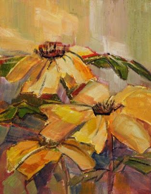 "Sunflower Painting, Impressionist Floral, Fine Art Oil Painting,""Wild Sunflowers"" by Colorado Contemporary Fine Artist Jody Ahrens"