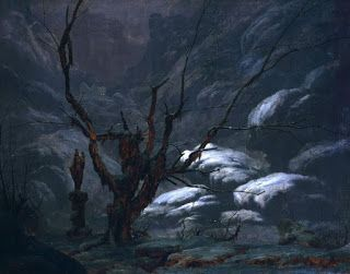 Carl Blechen, Mountain canyon in winter