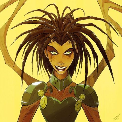 Wind-down illustration of Kerrigan from Starcraft Broodwar