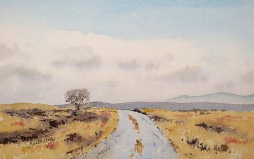 Ice on a Moorland Road