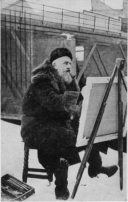 Thaulow Painting in Snow